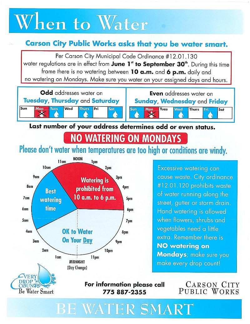 Scanned copy of the Carson City Watering Guidlines