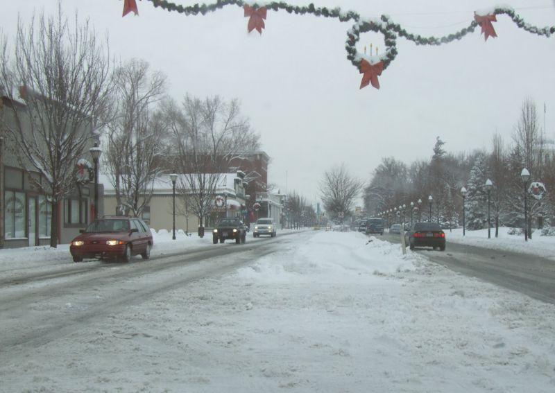 Snow on Carson Street