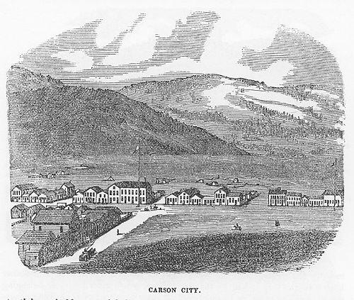 Carson City 1860 engraving
