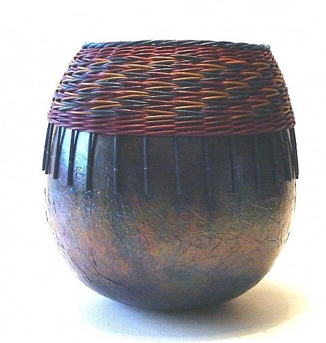 Molly Gardner - Tall gourd with weaving